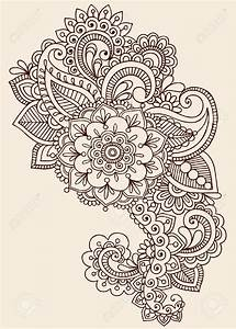 Henna Paisley Flowers Mehndi Tattoo Doodles Design ...