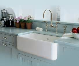 rohl single bowl fireclay apron kitchen sink traditional - Farmhouse Kitchen Faucets