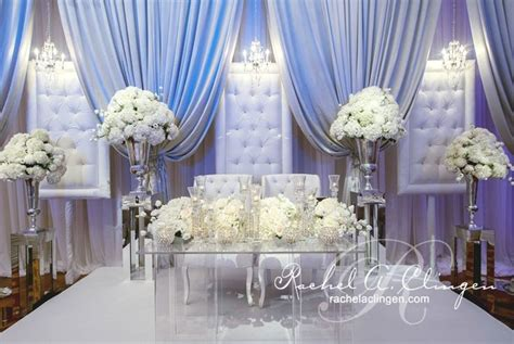 glam and white wedding stage   Say yes to the Dress   Pinterest   Wedding Stage, White Weddings