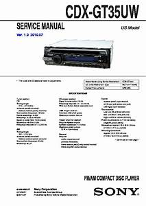 Sony Cdx-gt35uw Service Manual