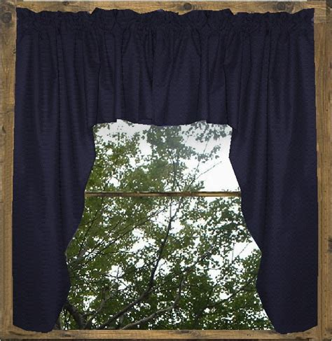 Blue Swag Curtains solid navy blue colored swag window valance optional