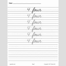 Free Cursive Handwriting & Number Tracing Worksheets 120 Supplyme