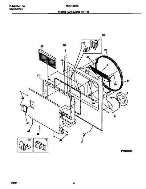 universal multiflex frigidaire electric dryer wiring diagram parts mde436rew1