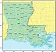 Counties Map of Louisiana - Mapsof.Net