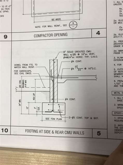 footing detail   ramp  ramp detail compactor