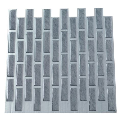 Smart Tiles Peel And Stick by Brick Vinyl Wall Tiles 11 2x12in Peel N Stick Backsplash