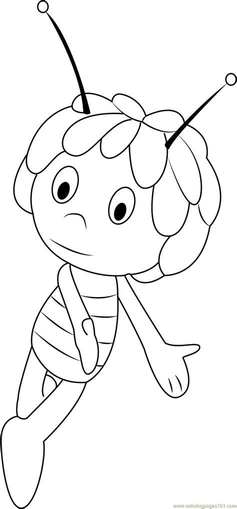 cute maya coloring page  maya  bee coloring pages coloringpagescom