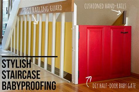Banister Safety Guard by Stylish Staircase Babyproofing An Update Loft Crafting