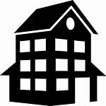 Building Icon Silhouette Svg Clipart Construction Luxury