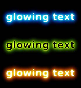 Cool glowing text tutorials gimpuserscom for Glowing letters