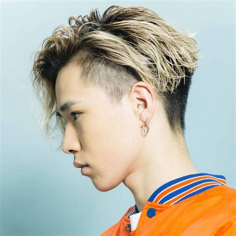 blonde undercuts hairstyles  japanese man men hair