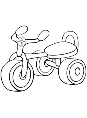 printable drift trike coloring page coloringpagebookcom