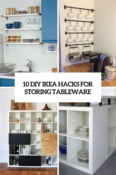 Ideas For Space Above Kitchen Cabinets - 10 diy ikea hacks for storing tableware in your kitchen shelterness