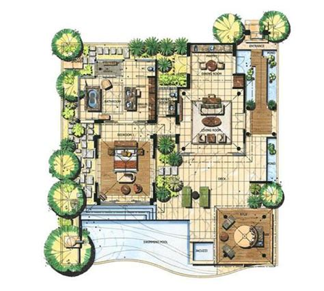 bali banyan tree villa floor plan google architect