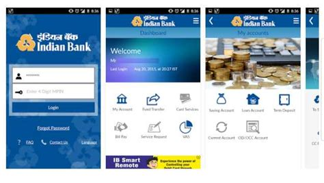 Banking Mobile Application by Indian Bank Mobile Banking Application 2018 2019 Studychacha