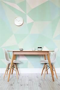 Mint Geometric Wallpaper Mural