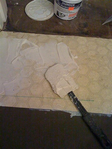 durock tile membrane dtm over vinyl ceramic tile