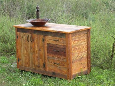 Stylish Reclaimed Wood Bathroom Vanity
