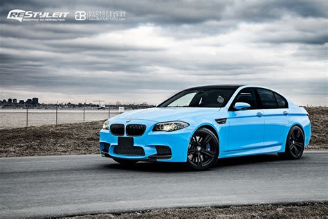 bmw   wrapped  olympic blue  restyleit