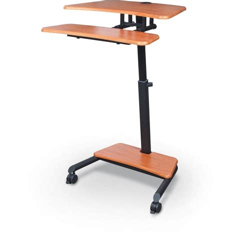 sit and stand desk up rite workstation mobile adjustable sit and stand desk