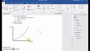 Using Ms Word To Draw Diagrams For Economics