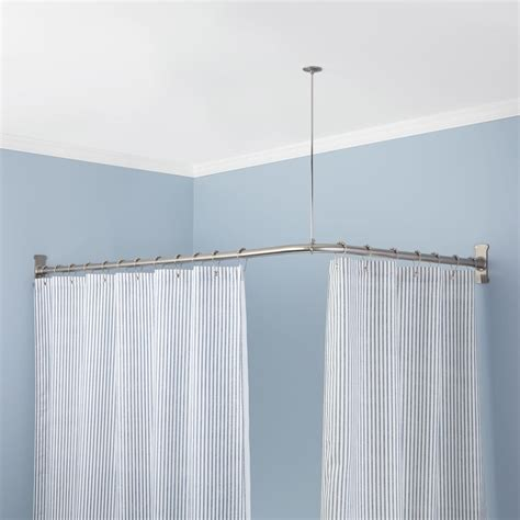 curved corner mounted shower curtain rod shower