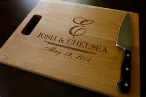 personalized wedding gifts for personalized engraved cutting board by taylorcraftsengraved