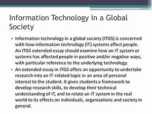 Information Technology Essays How To Write A Good Research Paper  Information Technology Merits And Demerits Essays Example