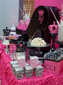 pink chair covers pink and black sweet sixteen evite