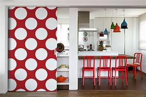 Papier Peint à Pois : papier peint abstrait pois blancs izoa ~ Dailycaller-alerts.com Idées de Décoration