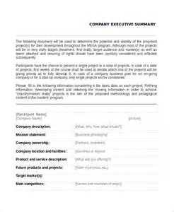 Executive Summary Template Example