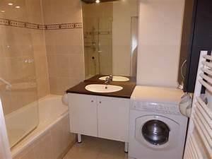 sdb et wc appartbry With porte de douche coulissante avec porcher meuble salle de bain