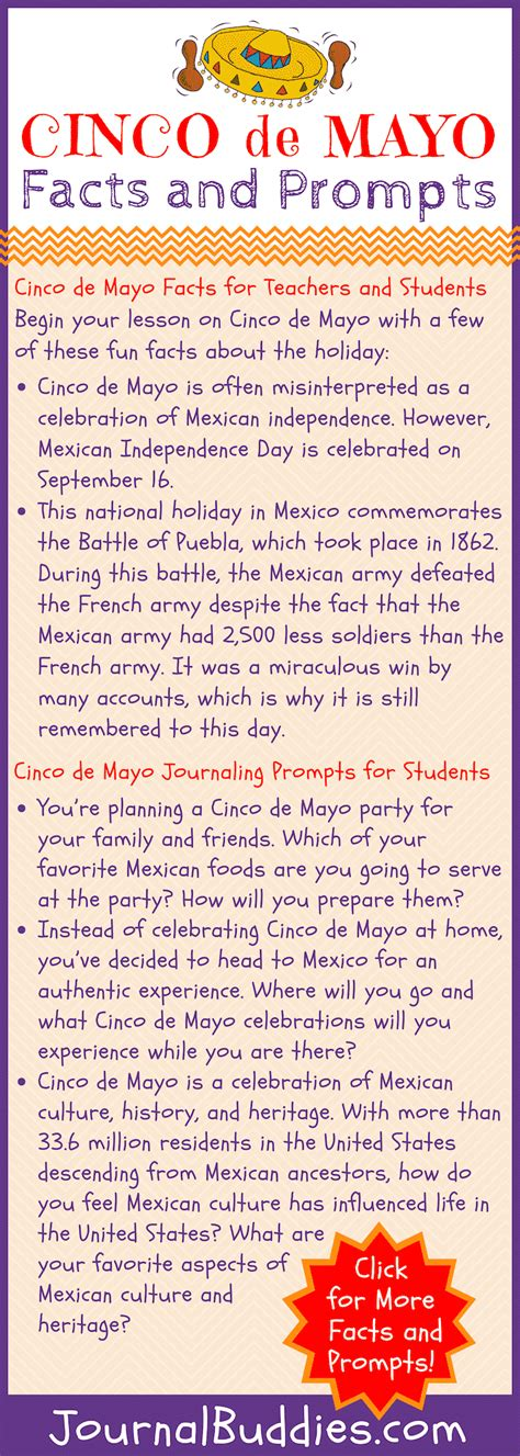 Cinco de Mayo Facts • JournalBuddies.com