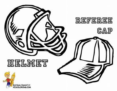 Football Coloring Pages Helmets Helmet College Plain