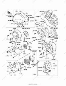 Kawasaki Motorcycle 1994 Oem Parts Diagram For Engine Cover S