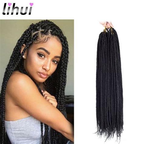 medium box braids with color lihui 7pcs lot medium box braids crochet hair crochet box