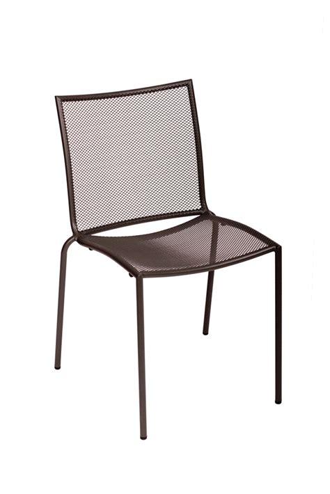 indoor outdoor steel mesh commercial side chair bar