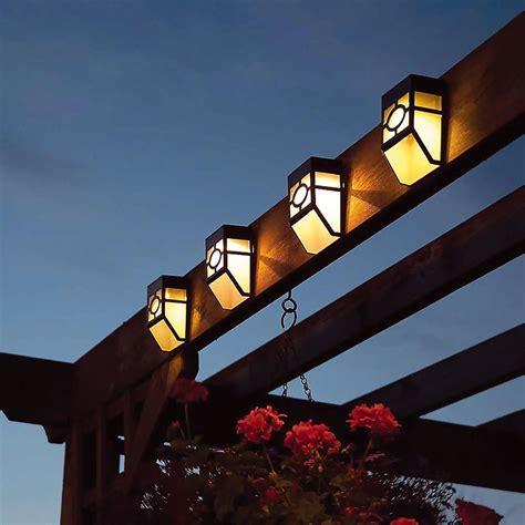 8 X Outdoor Garden Shed Door Fence Wall Bright Solar