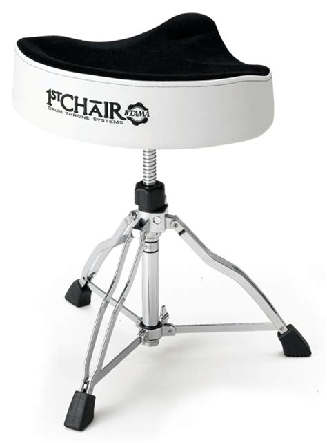tama 1st chair wide rider drum throne white sides