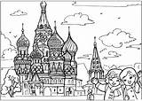 Temple Coloring Russian Around sketch template