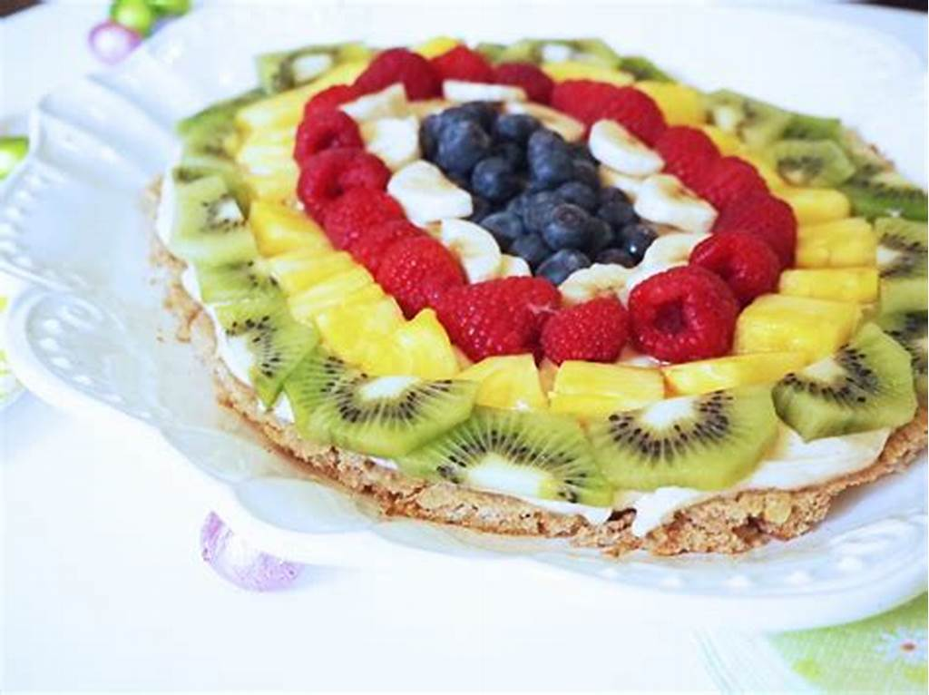 #Healthy #Whole #Oats #Easter #Fruit #Pizza