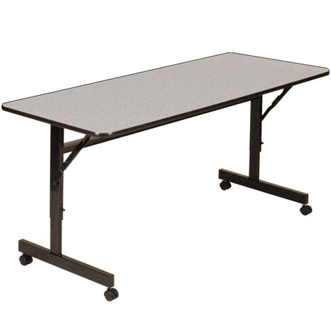 """Correll Econoline Mobile Flip Top Table, 24"""" X 72. Pacific Coast Lighting Table Lamp. Pool Tables Tulsa. Ikea Desk Base. Cubicle Standing Desk. Bunk Beds With Desk And Dresser. Tall Corner Computer Desk. Help Desk Coordinator Salary. Console Table With Ottomans"""