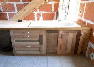 Cuisine En Bois Pas Cher : cuisine agr able placard cuisine bois massif meuble ~ Premium-room.com Idées de Décoration