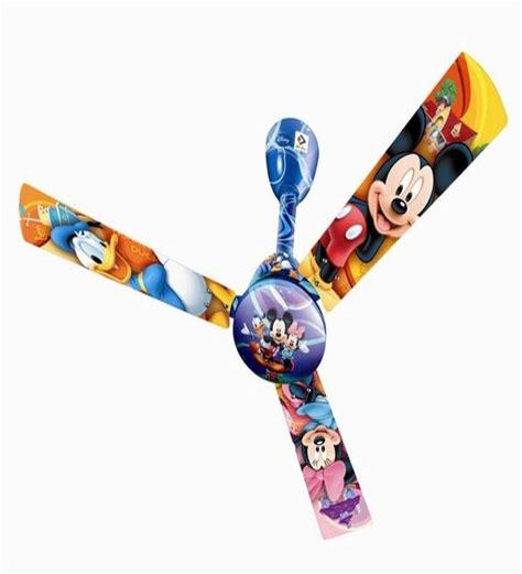mickey mouse ceiling fan blades bajaj disney 1200 mm mickey mouse friends 3 blade