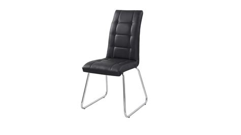 black dining chairs in faux leather homegenies