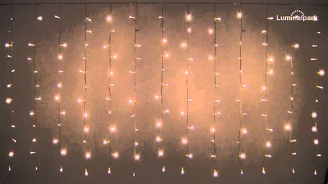 rideau lumineux 2 55 x 1 10 m 180 led blanc chaud c 226 ble transparent code 27404