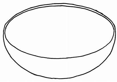 Bowl Template Clip Fruit Coloring Empty Clipart