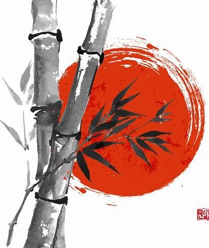 Japanese Bamboo Japan Ink Painting Wash Clipart
