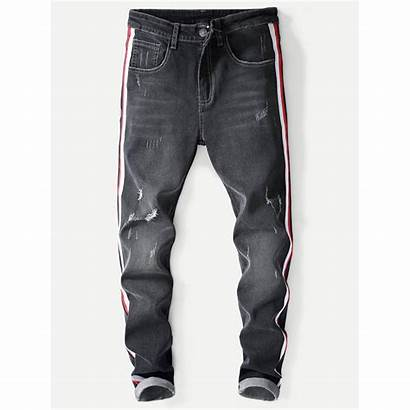 Ripped Jeans Pants Tape Wearwhatnow