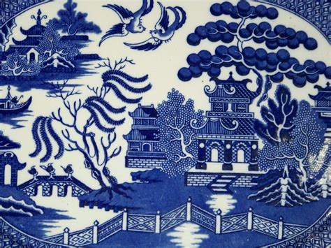 blue willow wallpaper gallery